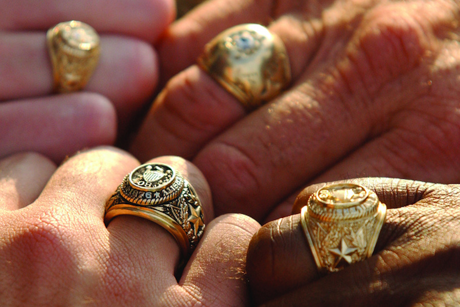 4 hands with Aggie rings